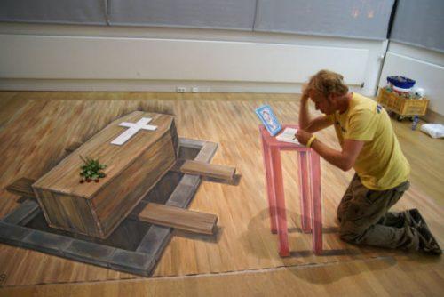 3D рисунки на асфальте. Leon Keer