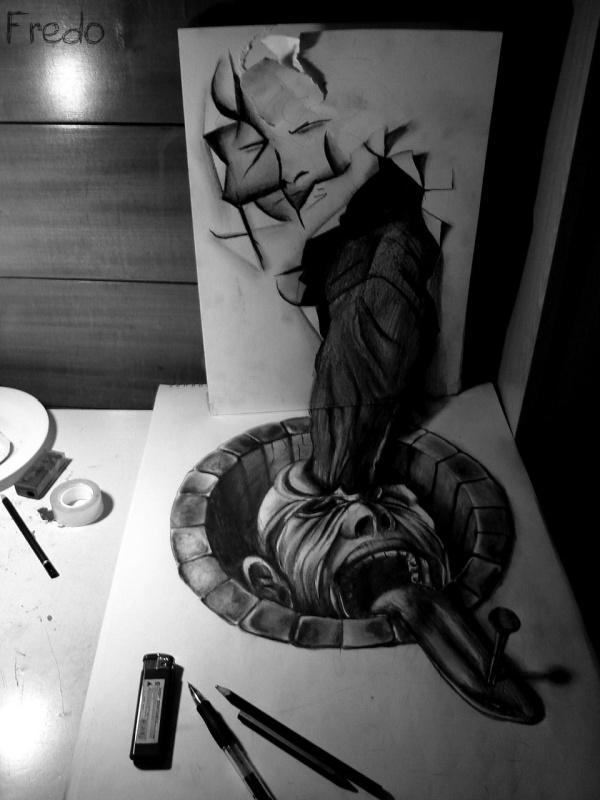 3D рисунки карандашом. Fredo (46 фото)