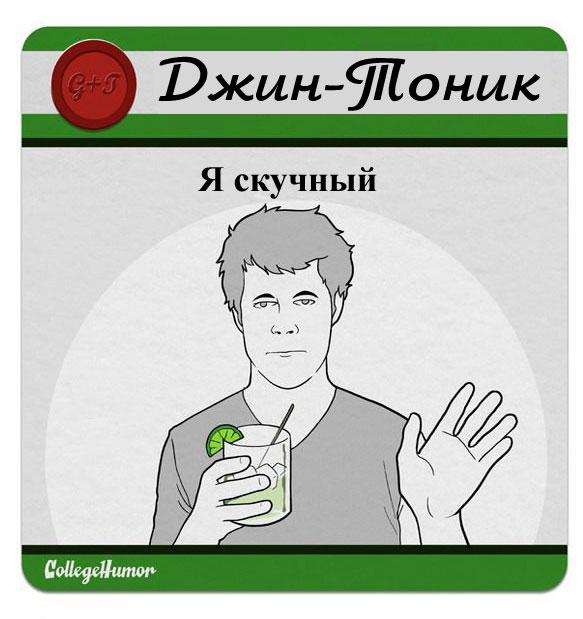 Расшифровка названий алкогольных напитков (17 шт)