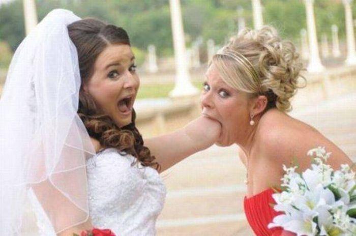 Смешные и странные свадебные фотографии